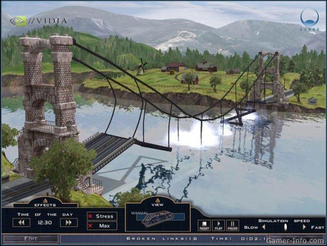 Скриншот игры Bridge It