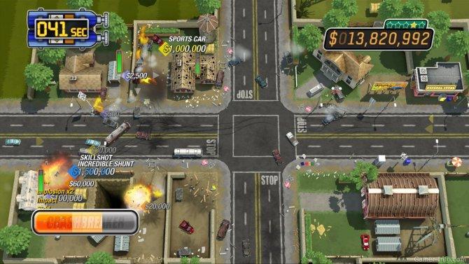 Скриншот игры Burnout CRASH