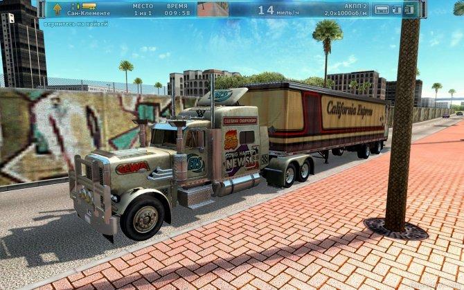 Скриншот игры Дальнобойщики 3: Большие гонки