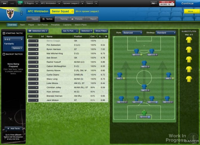 Скриншот игры Football Manager 2013
