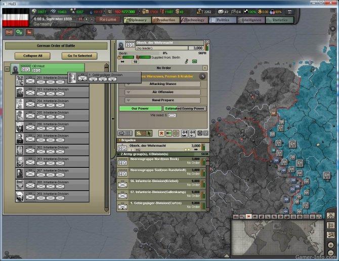 Скриншот игры Hearts of Iron III: Semper Fi