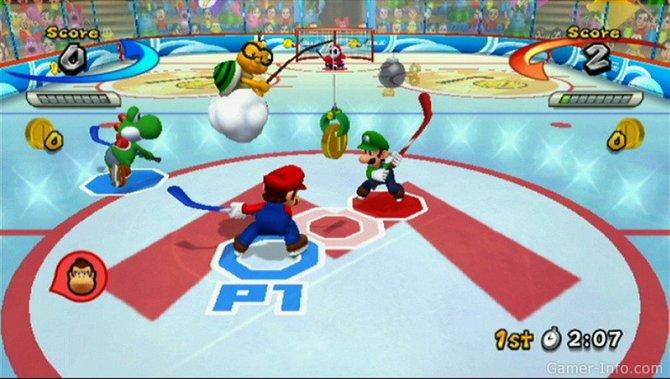 Скриншот игры Mario Sports Mix
