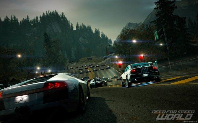 Скриншот игры Need for Speed World Online