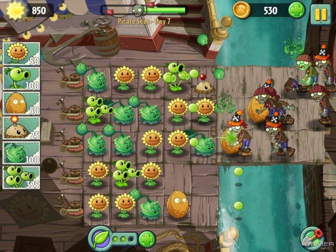 Скриншот игры Plants vs Zombies 2: It's About Time
