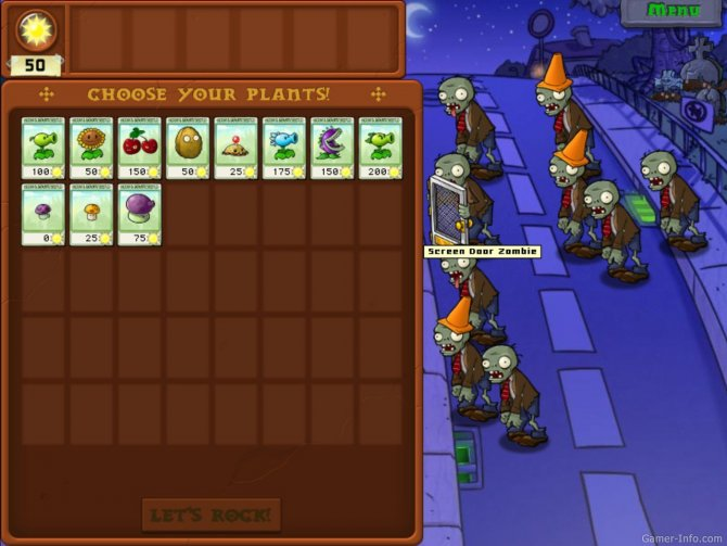 Скриншот игры Plants vs Zombies