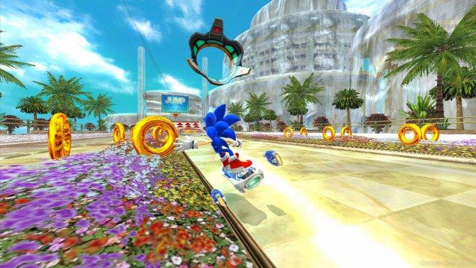 Скриншот игры Sonic Free Riders