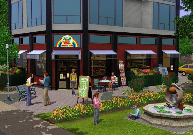 Скриншот игры The Sims 3: Town Life Stuff