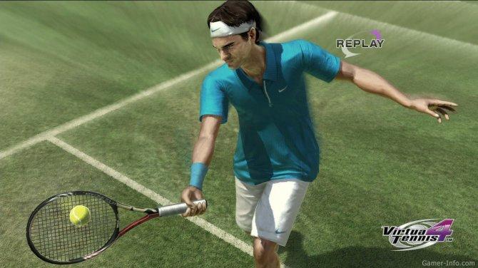 Скриншот игры Virtua Tennis 4