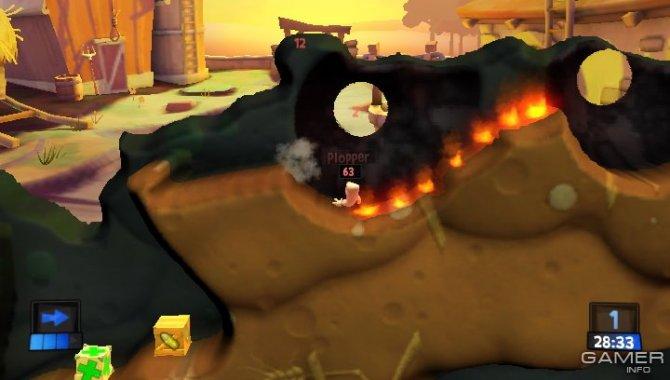Скриншот игры Worms Revolution Extreme