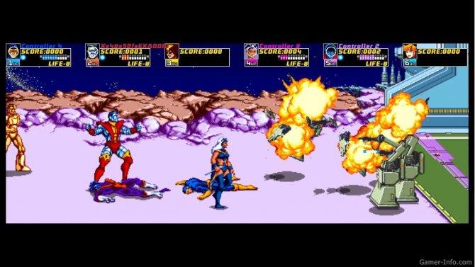 Скриншот игры X-Men Arcade