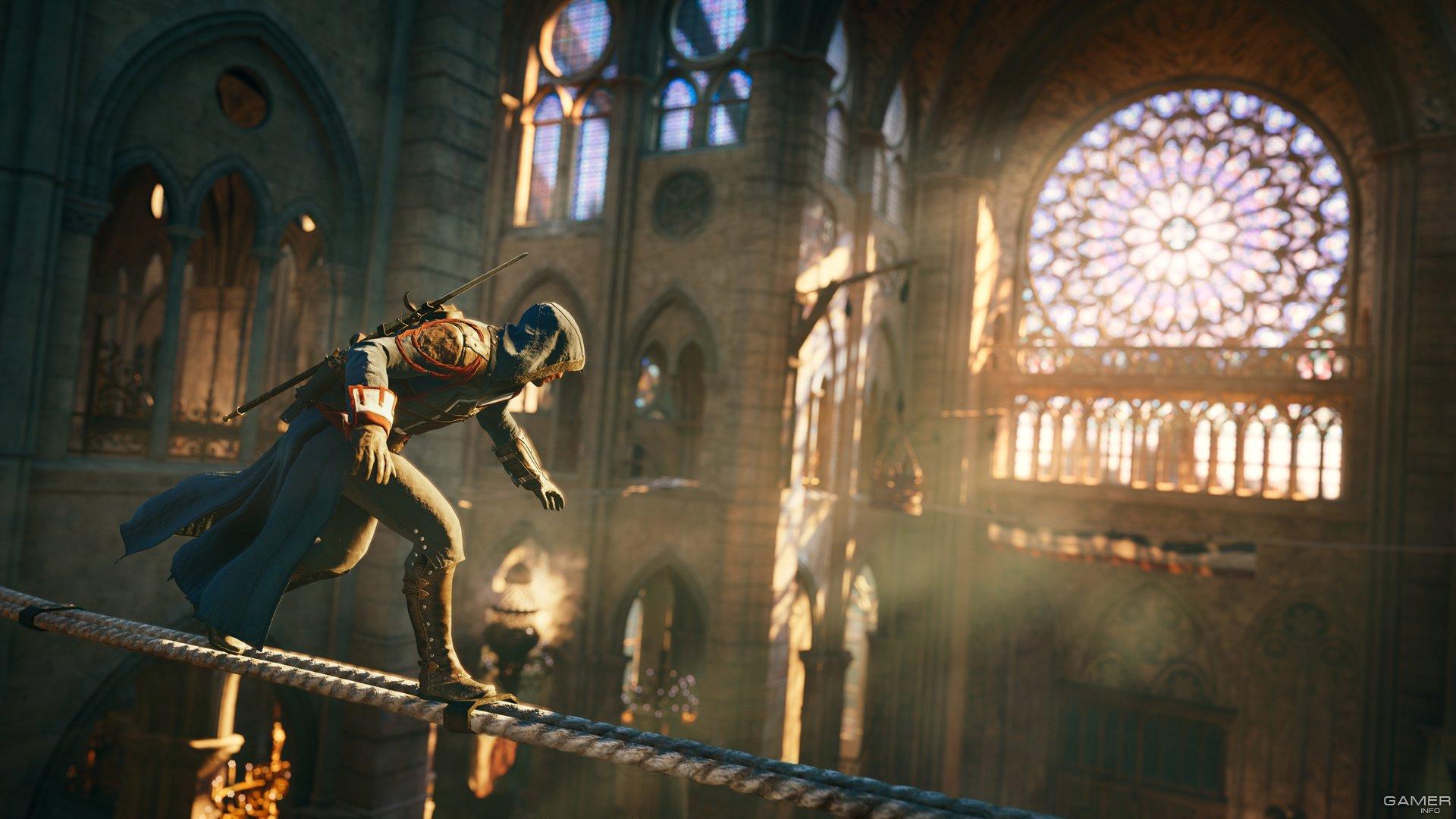assassinss creed unitys virtual recreation of notre - HD1710×900