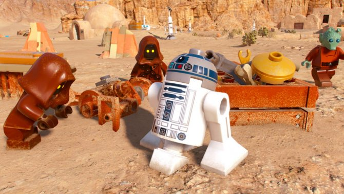 Скриншот игры LEGO Star Wars: The Skywalker Saga
