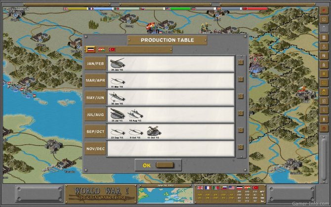 Скриншот игры Strategic Command World War I: The Great War 1914-1918