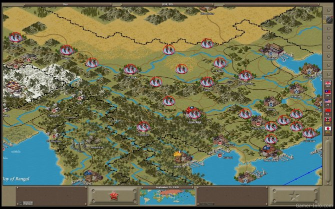 Скриншот игры Strategic Command: WWII Global Conflict